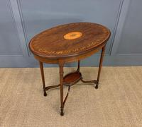Fine Quality Oval Inlaid Mahogany Occasional Table (11 of 16)