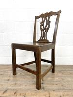 Set of Four Country Oak Dining Chairs (8 of 10)