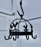 Blacksmith Made Iron Game Hanger, Kitchen Utensil or Pot Hanger (4 of 5)