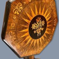 Rosewood Marquetry Sunburst Inlaid Side Table (4 of 7)