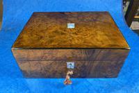 Victorian Jewellery Box in Burr Walnut