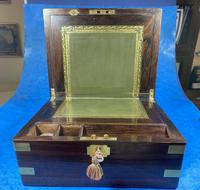 Victorian Brassbound Rosewood Writing Slope (19 of 20)