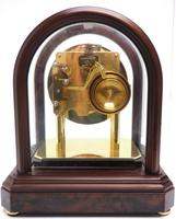 Wow! Franz Hermle & Sohne Musical Bell Chiming Mahogany & Glass Mantel Clock (7 of 13)