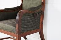 Early 19th Century Empire Mahogany Reclining Wing Back Armchair (4 of 5)