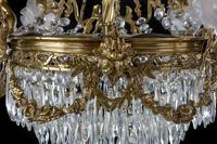 A Late 19th Century Gilt Bronze and Cut Glass Six Arm Chandelier (3 of 6)