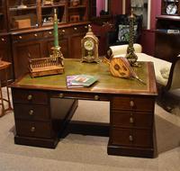 George III 18th Century 'Plum Pudding' Mahogany Partner's Desk (3 of 3)