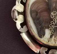 Victorian Mourning Pendant, Swivel Brooch, Hairwork (10 of 10)