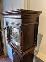 Early 20th Century Oak Granddaughter Clock (4 of 6)