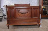 Carved Oak French Gentleman's Double Bed (3 of 10)