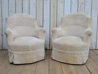 Pair of Antique French Tub Armchairs (9 of 9)