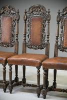 4 Carved Oak Dining Chairs (12 of 13)