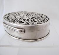 Impressive Victorian silver table snuff box Henry William Dee London 1877 (6 of 13)