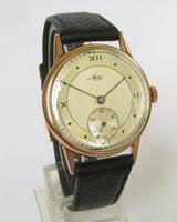 Gents 9ct Gold Avia Wrist Watch, 1947 (2 of 5)