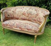 Gilt Needlepoint Sofa (6 of 6)