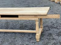 Large Bleached Oak Farmhouse Dining Table with Extensions & Storage (23 of 35)