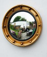 Art Deco Regency Style, Convex, Porthole  Mirror (2 of 13)