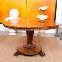 William IV Rosewood Breakfast Table Tilt Top Dining Console (5 of 11)
