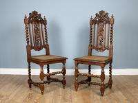 Rare Set of Eight 19th Century Hand Carved Dining Chairs (2 of 5)