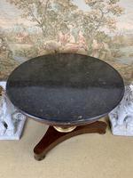 19th Century Marble Top Centre Table with Ormolu Band (5 of 6)