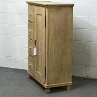 Old Pine Bread Cupboard with Four Drawers (4 of 5)
