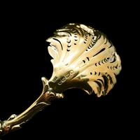 Victorian Silver Gilt Sugar Sifter Spoon 'diana The Huntress' Figure - Francis Higgins 1854 (15 of 23)