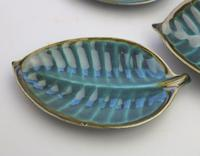 A Retro Set 4X Novelty Studio Pottery Leaf Plates Surrey Ceramics 1960's (3 of 11)