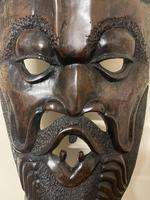Huge African Hand Carved Free Standing Mask (2 of 6)