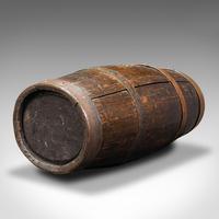 Antique Coopered Barrel Stick Stand, English, Oak, Hallway Portico, Victorian (12 of 12)