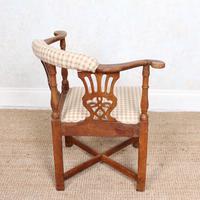 Georgian Corner Elbow Chair Beech (9 of 10)