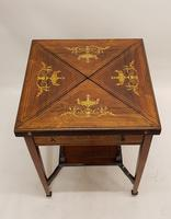 Victorian Rosewood Envelope Card Table (4 of 6)