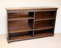 Oak Open Bookcase c 1930 (8 of 12)