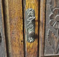 Antique Victorian Oak Smokers Cabinet, Arts & Crafts (4 of 14)