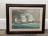 """Edwardian Watercolour """"Champion Of The Seas"""" Ship Black Ball Line Off Cape of Good Hope Signed Pierhead Artist Williams (16 of 39)"""