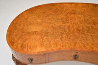 Antique Burr Walnut Kidney Shaped Desk or Dressing Table by Waring & Gillows (3 of 12)