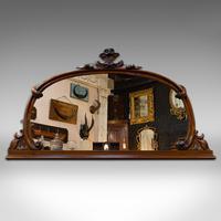 Antique Overmantel Mirror, English, Walnut, Glass, Hall, Victorian, Circa 1860 (9 of 9)