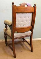 Antique Victorian Set of Eight Oak Dining Chairs (12 of 16)