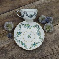 First Period Worcester Porcelain Fluted Cup & Saucer c.1770 (10 of 10)