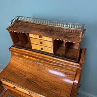Sensational Victorian Burr Walnut Piano Top Antique Davenport Desk (3 of 10)