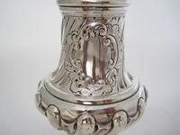 Large Victorian Embossed Silver Sugar Caster with a Detachable Lid (4 of 7)