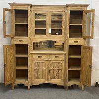 Very large antique dresser with glazed display cupboards (5 of 9)