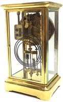 Fine  Antique French Table Regulator with Compensating Pendulum 8 Day 4 Glass Mantel Clock (7 of 11)