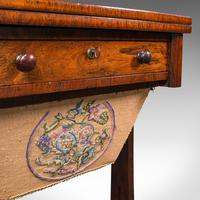 Antique Fold Over Games Table, English, Rosewood, Chess, Cards, Regency c.1820 (10 of 12)
