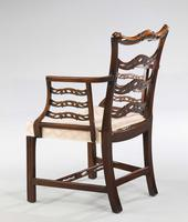 Late 19th Century Mahogany Frame Elbow Chair (2 of 5)