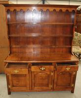 1900's Oak Dresser with Display Rack Good Fruitwood Colour (2 of 5)
