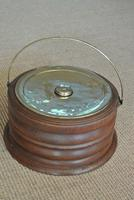 19th Century Dutch Wood & Brass Foot Carriage Warmer Hot Water Bottle (6 of 6)