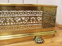 19th Century Fretwork Brass Fire Fender (8 of 9)