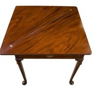 George III Mahogany Triangular Fold Over Top Table (4 of 7)