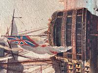 Seascape Oil Painting First Rate Man O War Ships Portsmouth Harbour Signed Brian Coole (22 of 39)