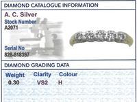 0.30ct Diamond & 14ct Yellow Gold, Five Stone Ring - Antique c.1920 (6 of 9)