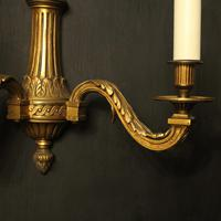 French Gilded Bronze Twin Arm Wall Lights (4 of 10)